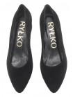 14104 RYLKO (Poland) Туфли замшевые черные с/х
