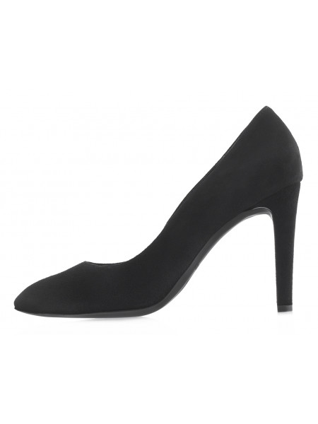 Туфли замшевые RYLKO (Poland ) 14105 черные