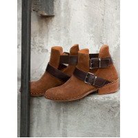 Полуботинки осенние замшевые DERO-GO (Turkey) 14114 коричневые