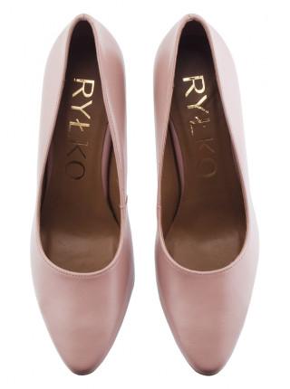 Туфли кожаные RYLKO (Poland ) 14136 бежевые