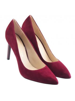 Туфли открытые замшевые SHOEBOOUTIQUE (Poland ) 14170 бордовые