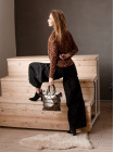 55104 GABS (Italy) Сумка кожано-текстильная 33х32 см
