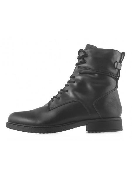 14178 TAMARIS (Germany) Полуботинки осенние черные со шнуровкой