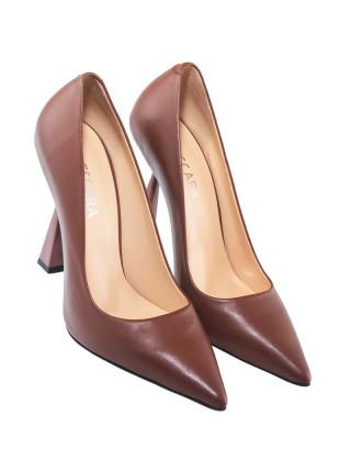 Туфли женские кожаные DESCARA (Turkey) 14239 коричневые