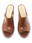Сабо женские кожаные DESCARA (Turkey) 14235 коричневые