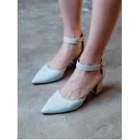 Туфли женские кожаные INDIANA (Brazil) 14244 серо-голубые