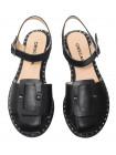 Босоножки женские кожаные DESCARA (Turkey) 14249 черные