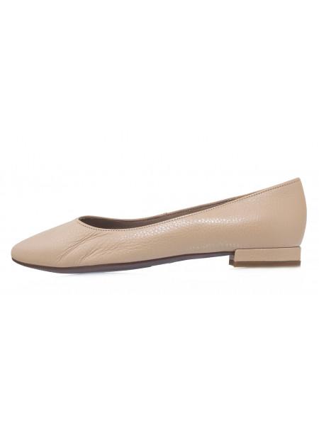Туфли кожаные женские RYLKO (Poland) 14286 бежевые