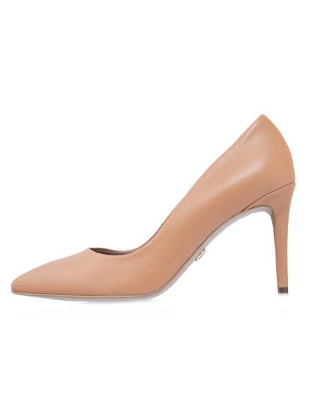 Туфли кожаные женские RYLKO (Poland) 14293 кремовые