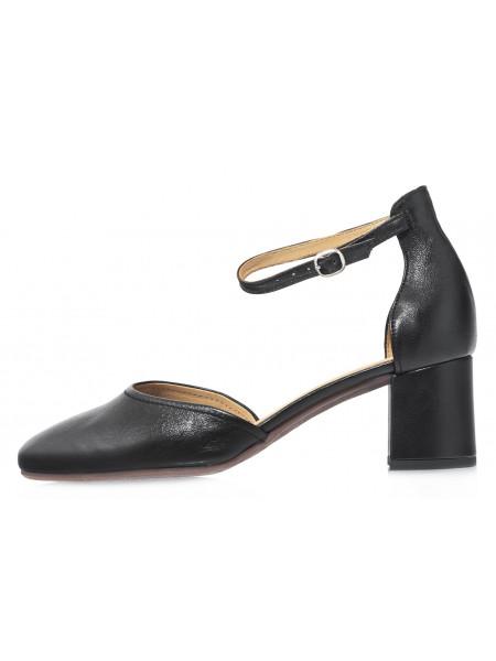 Туфли кожаные женские открытые RYLKO (Poland) 14296 черные