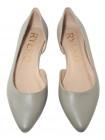 Туфли кожаные женские RYLKO (Poland) 14299 оливковые