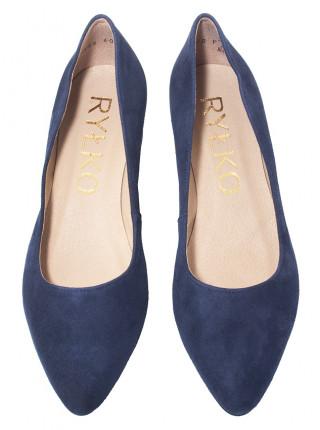 Туфли замшевые женские RYLKO (Poland) 14300 синие