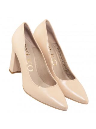 Туфли кожаные женские RYLKO (Poland) 14301 бежевые
