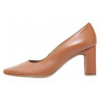 Туфли кожаные женские RYLKO (Poland) 14305 коричневые