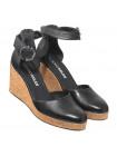 Туфли кожаные женские открытые RYLKO (Poland) 14308 черные