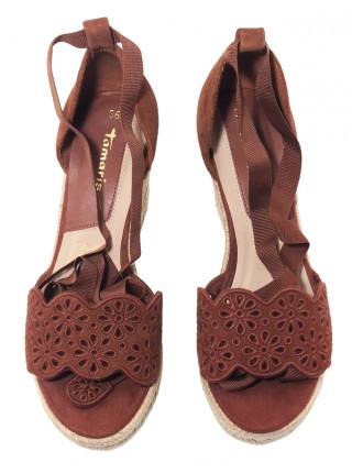 Босоножки замшевые женские TAMARIS (Germany) 14326 коричневые