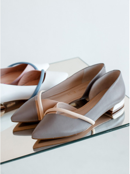 Туфли кожаные женские CAPELLI ROSSI (Brazil) 14338 бежевые