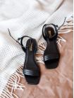 Босоножки кожаные женские INDIANA (Brazil) 14339 черные