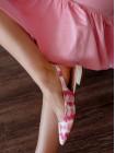 Босоножки кожаные женские закрытые CAPELLI ROSSI (Brazil) 14341 розово-белые
