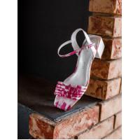 Босоножки женские кожаные CAPELLI ROSSI (Brazil) 14355 розово-белые