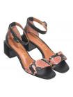Босоножки кожаные женские CAPELLI ROSSI (Brazil) 14363 черные