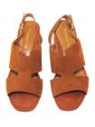 Босоножки замшевые женские TAMARIS (Germany) 14371 коричневые