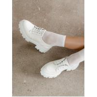 Туфли кожаные DESCARA (Turkey) 14406 белые