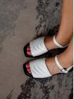 Босоножки кожаные DESCARA (Turkey) 14407 белые