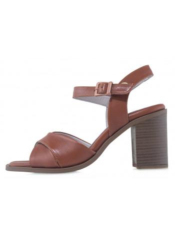 Босоножки кожаные женские MESSIMOD (Turkey) 14417 коричневые