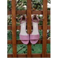 Босоножки замшевые RYLKO (Poland) 14451 розовые