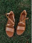 Босоножки кожаные RYLKO (Poland) 14456 коричневые
