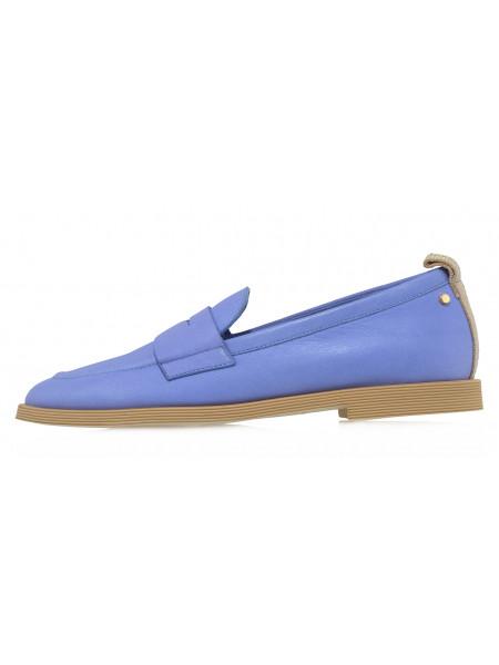 Туфли кожаные ANGELO BERVICATO (Italy) 14484 голубые