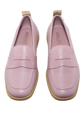 Туфли кожаные ANGELO BERVICATO (Italy) 14485 розовые