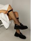 Лоферы искусственная кожа AIMOSI (China) 14507 чёрные