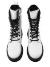 Ботинки осенние кожаные DESCARA (Turkey) 14509 белые