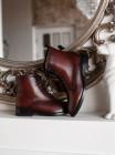 Ботинки осенние кожаные TAMARIS (Germany) 14529 бордовые