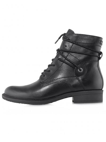Ботинки осенние кожаные TAMARIS (Germany) 14537 чёрные