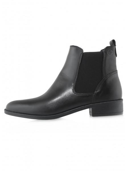 Ботинки осенние кожаные TAMARIS (Germany) 14541 чёрные