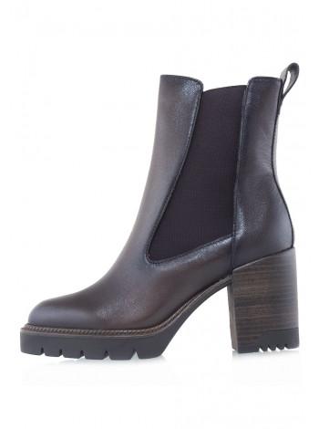 Ботинки осенние кожаные TAMARIS (Germany) 14542 тёмно-коричневые
