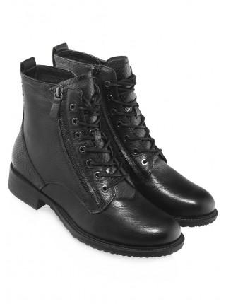 Ботинки осенние кожаные TAMARIS (Germany) 14543 чёрные