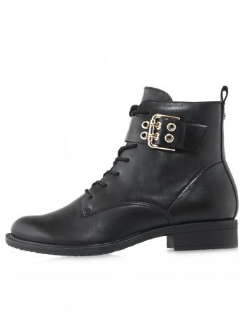 Ботинки осенние кожаные TAMARIS (Germany) 14544 чёрные