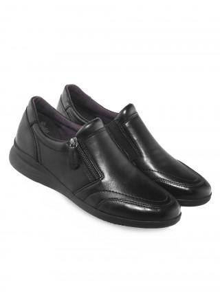 Туфли кожаные JANA (Germany) 14558 чёрные