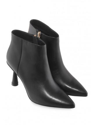 Ботинки осенние кожаные Indiana Signature (China) 14574 чёрные