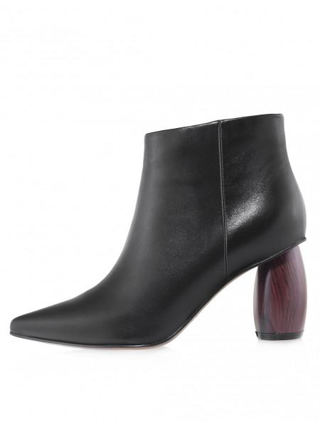 Ботинки осенние кожаные Indiana Signature (China) 14575 чёрные