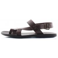 Сандали кожаные DANIELE POLIDORI (ИТАЛИЯ) 2191 темно-коричневые