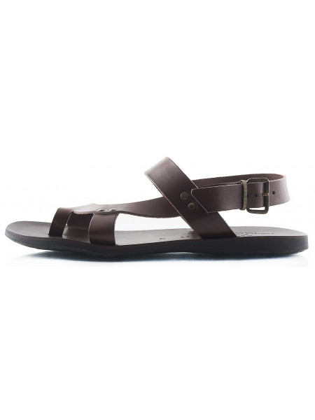 Сандалии кожаные DANIELE POLIDORI (Italy) 2191 темно-коричневые