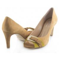 Туфли открытые замшевые 1,618 (ИТАЛИЯ) 1652 светло-коричнево-желтые
