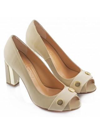 Туфли кожаные HISTORY (ИТАЛИЯ) 1678 бежевые