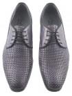 Туфли кожаные DASTHON (ИТАЛИЯ) 2207 темно-серые