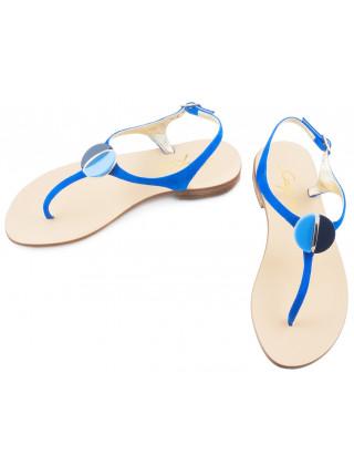 Босоножки замшевые CAPRI (ИТАЛИЯ) 1728 голубые